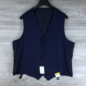 Hickey Freeman Classic Fit Plaid Wool Suit Vest